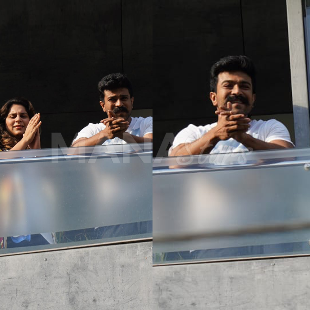 Photo of RamCharan Claping – JantaCurfew