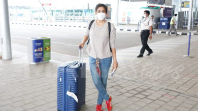 Photo of Actress Priyamani At Hyderabad Airport Stills