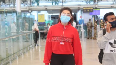 Photo of Pranitha Subhash  At Hyderabad Airport