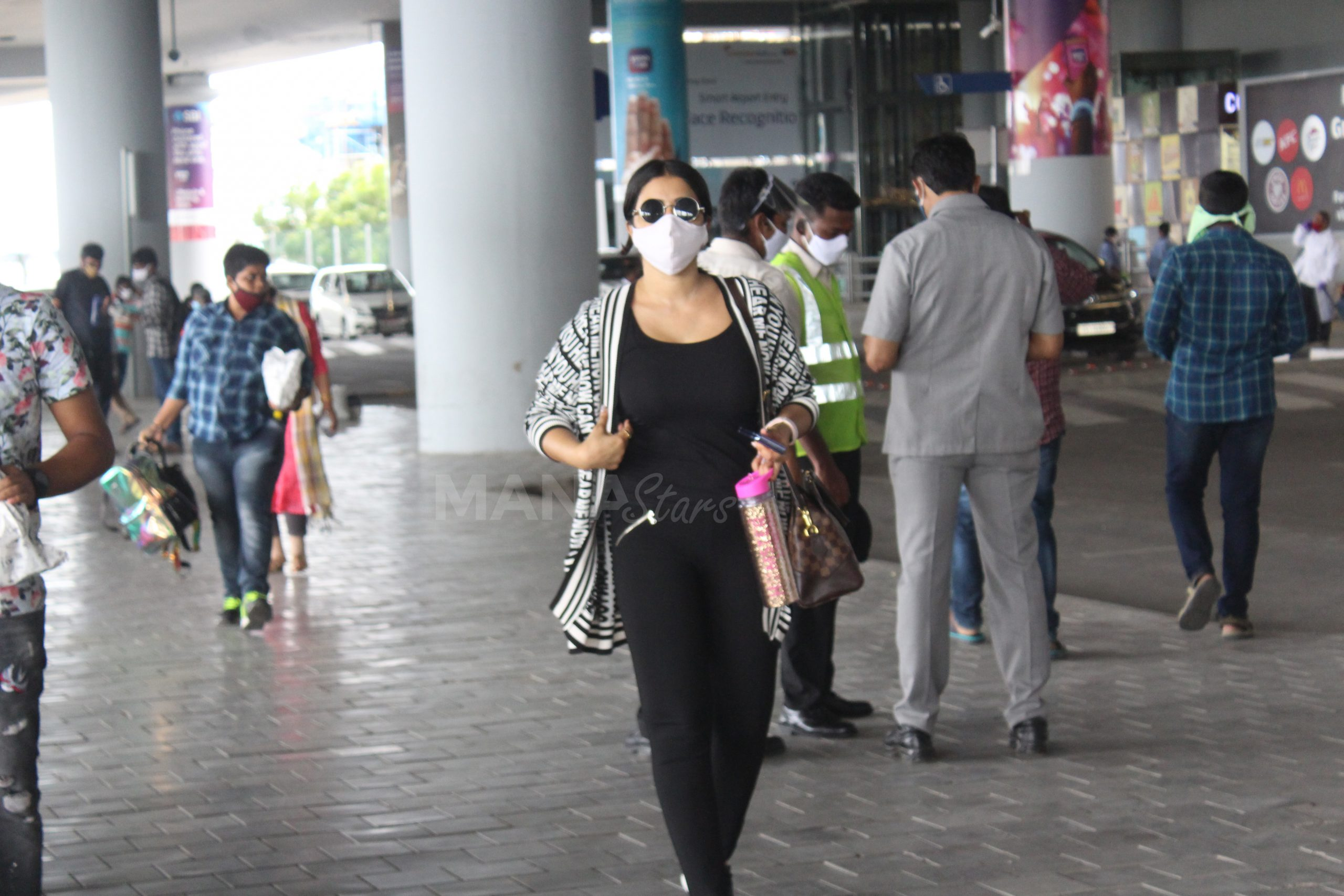 Photo of Actress Poorna Spotted At Hyderabad