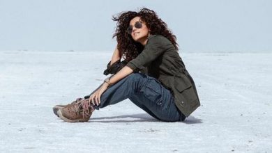 Photo of A Workout in the dessert- Taapsee Pannu